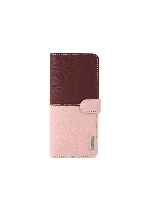 Korean Stamp D Folio | Universal 5.5-6.5 inch - Pink/Wine