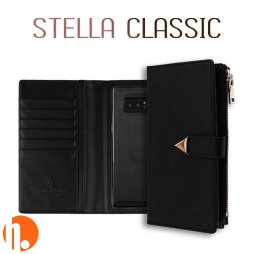 Korean Stella Detachable Diary | iPhone XR (6.1) - Black