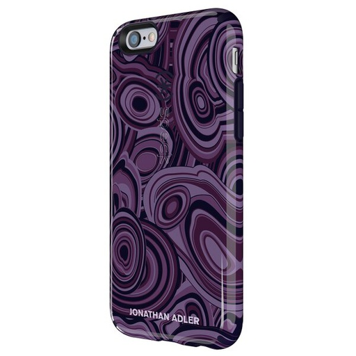 [73990-5128] Speck CandyShell Inked Jonathan Adler | iPhone 6/6S – Malachite Purple Berry