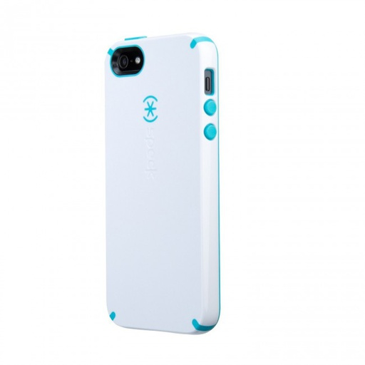 [71151-B871] Speck CandyShell | iPhone 5/5S – White/Peacock Blue