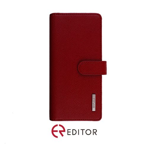 [BC-30671] Korean Simple D Double Folio | Samsung A11 - Red