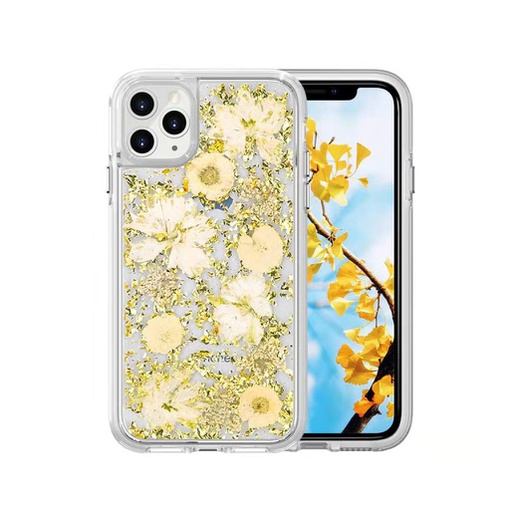 [BC-30832] Coco Dried Flower | iPhone 11 Pro (5.8) - Gold Foil