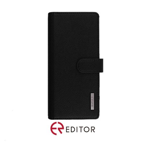 [BC-30862] Korean Simple D Double Folio | Samsung Note 20 Ultra – Black