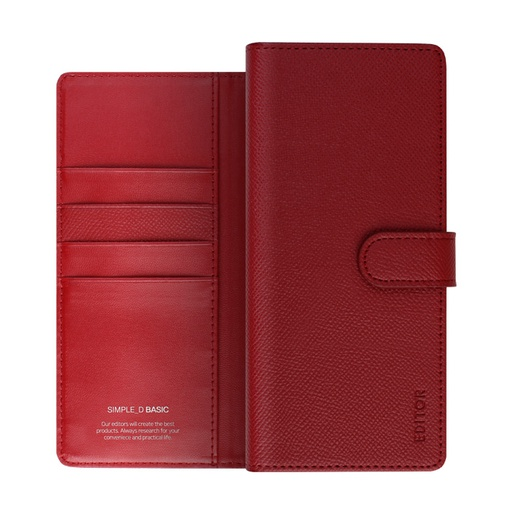 [BC-30867] Korean Simple D Basic | Samsung Note 20 - Red