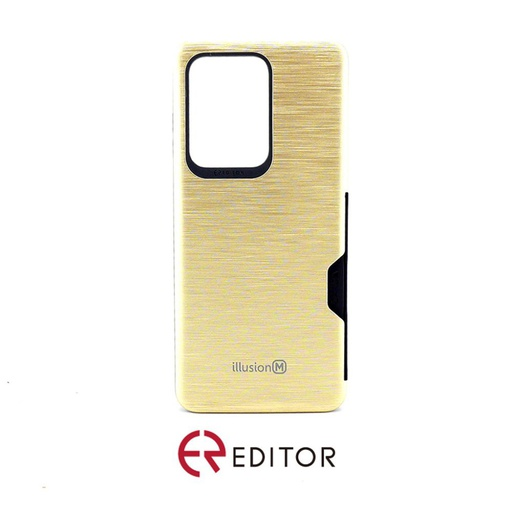 [BC-30881] Editor Illusion w/ Card Slot | Samsung Note 20 Ultra – Gold