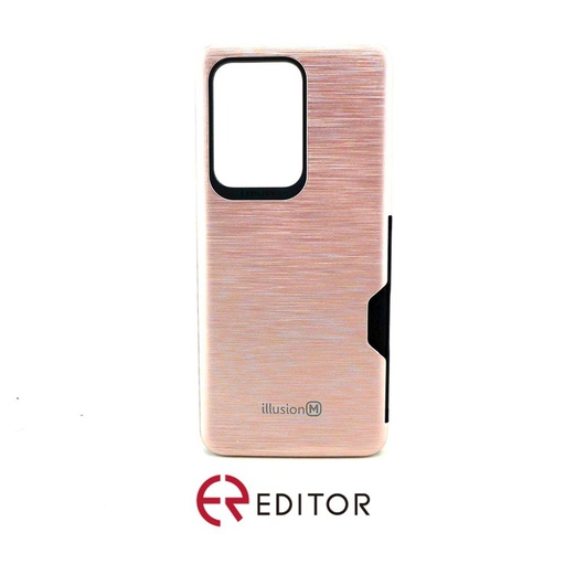 [BC-30882] Editor Illusion w/ Card Slot | Samsung Note 20 Ultra – Rose Gold