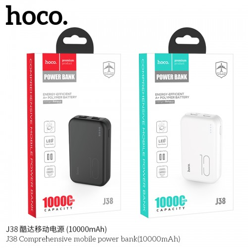 Hoco J38 | Energy Efficient 10,000mAh Power Bank - Airplane Safe