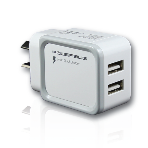 [Powerbugg3] Powerbug | Dual Ports 2nd Gen Smart Chip AC Wall Charger (AU Approved)
