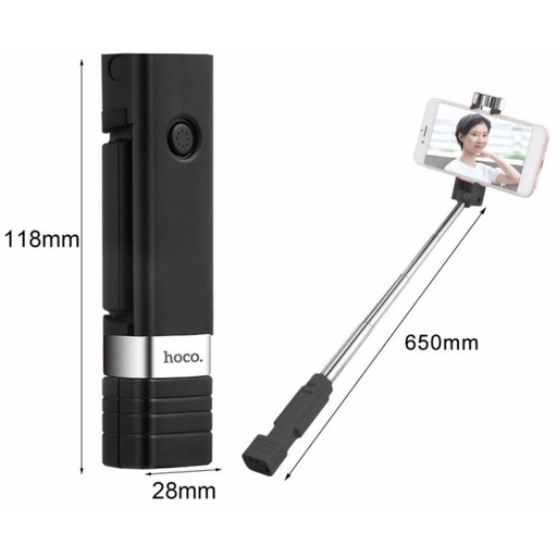 [K4] Hoco K4 | Beauty Bluetooth Wireless Selfie Stick