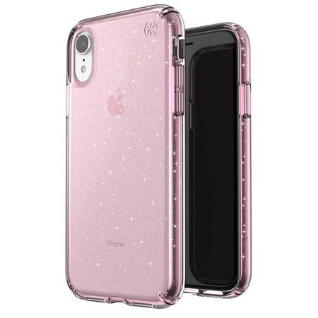 [117068-6603] Speck Presidio Clear + Glitter | iPhone XR - Rose Pink
