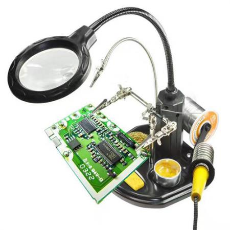 [BC-31275] BEST TE-802 | Soldering Helping Hand With LED Magnifierier 220V