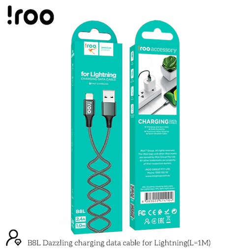 [B8L] iRoo B8L | Super Strong Dazzling USB Cable - Lightning