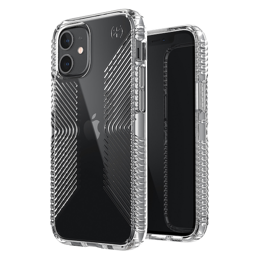[138493-5085] Speck Presidio Grip (4m drop) | iPhone 12/12 Pro (6.1) - Perfect Clear