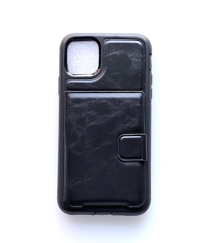 [BC-31620] Coco Heavy Duty Leather Magnetic /w Card Slots | iPhone 12 Pro Max (6.7) - Black