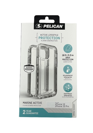 [PP043816] Pelican Marine Active 5.5m Drop Protection | iPhone 12 Pro Max (6.7) - Clear