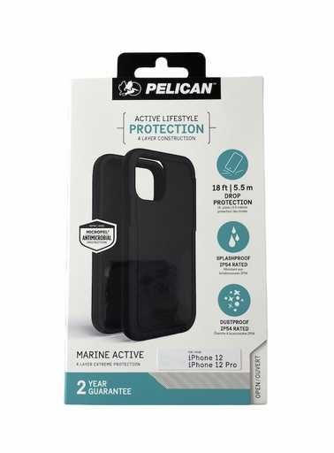 [PP044112] Pelican Marine Active 5.5m Drop Protection | iPhone 12 Pro Max (6.7) - Black