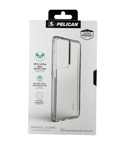 [PP045210] Pelican Ranger AntiMicrobial | Samsung Galaxy S21 Ultra - Clear