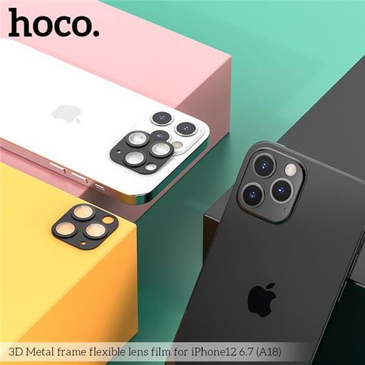 [V18-1261] Hoco A18 Metal Frame Camera Glass | iPhone 12 (6.1)