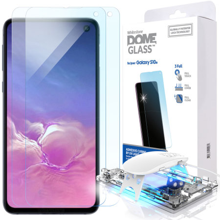 [BC-01640] Korean Whitestone UV Full Glue Dome Glass – Samsung S10e - Ultrasonic FingerPrint