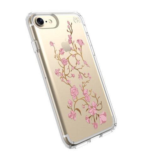 [79991-5754] Speck Presidio Clear + Print | iPhone 7/8/SE 2020 – Golden Blossoms