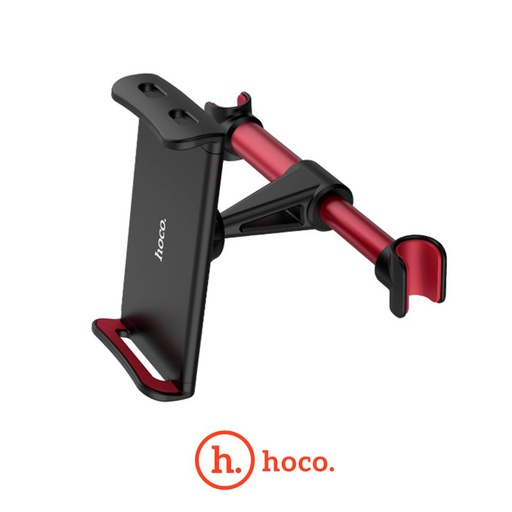 [CA30] HOCO CA30 Backrest Car Holder Phone/Tablet 4.7-10.5 inch – Black/Red